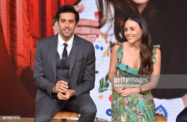 Jose Pablo Minor and Zuria Vega at the Press Conference for new soap opera Mi Marido Tiene Familia at Univision Studios on August 21 2017 in Doral FL