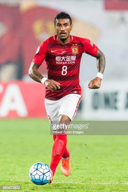 Jose Paulo Bezerra Maciel Junior of Guangzhou Evergrande FC in action during their AFC Champions League 2017 Match Day 1 Group G match between...