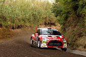 Jose Pedro Fontes and Ines Ponte in Citroen DS3 R5 of Citroen Vodafone Team during the shakedow of the FIA ERC Azores Airlines Rallye 2016 in Ponta...