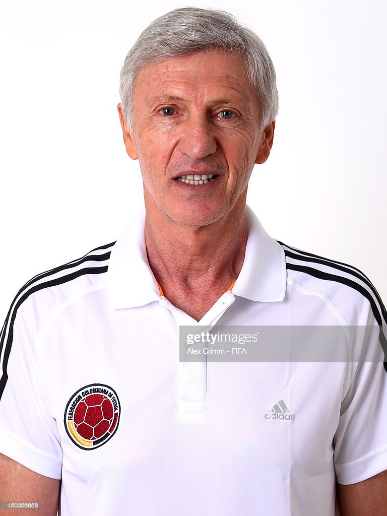 <a gi-track='captionPersonalityLinkClicked' href=/galleries/search?phrase=Jose+Pekerman&family=editorial&specificpeople=242856 ng-click='$event.stopPropagation()'>Jose Pekerman</a> of Colombia poses during the official FIFA World Cup 2014 portrait session on June 9, 2014 in Sao Paulo, Brazil.
