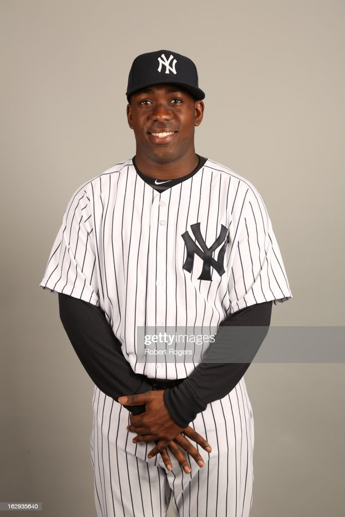 Jose Pirela #97 of the New York Yankees poses during Photo Day on February 20, 2013 at George M. Steinbrenner Field in Tampa, Florida.