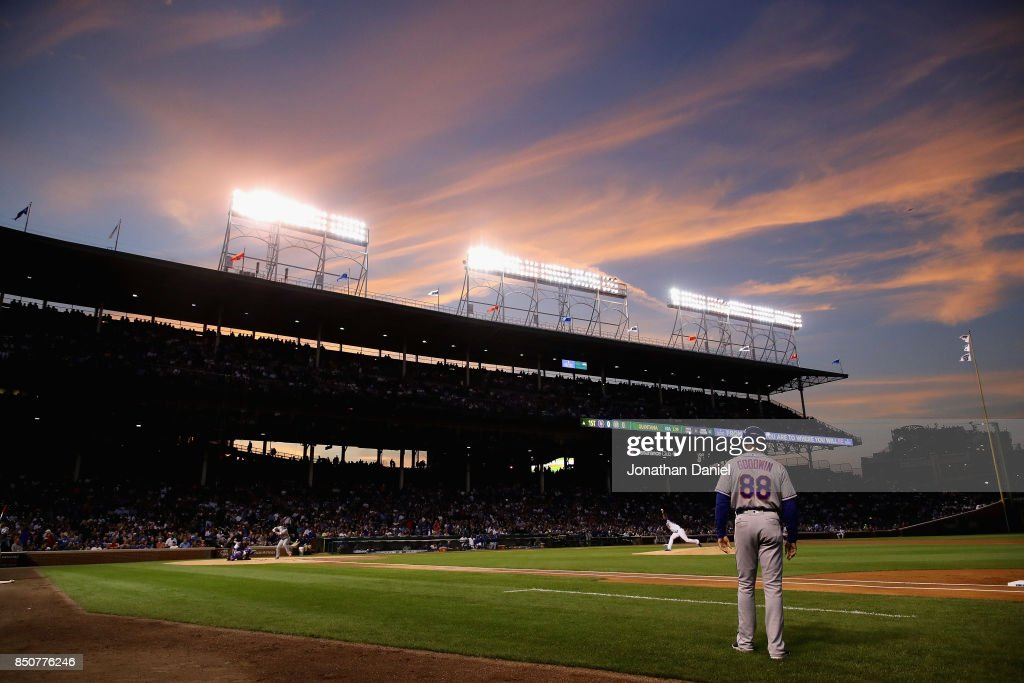 Jose Quintana #62 of the Chicago Cubs pitches against the New York Mets at Wrigley Field on September 12, 2017 in Chicago, Illinois. The Cubs defeated the Mets 8-3.