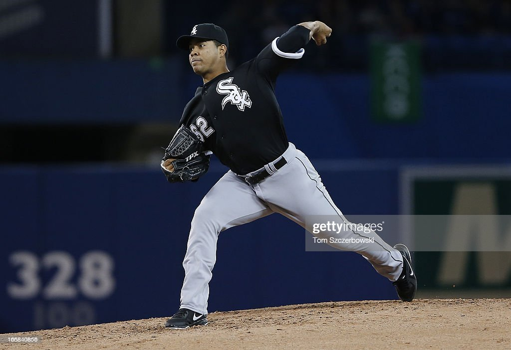 Jose Quintana #62 of the Chicago White Sox delivers a pitch during MLB game action against the Toronto Blue Jays on April 17, 2013 at Rogers Centre in Toronto, Ontario, Canada.