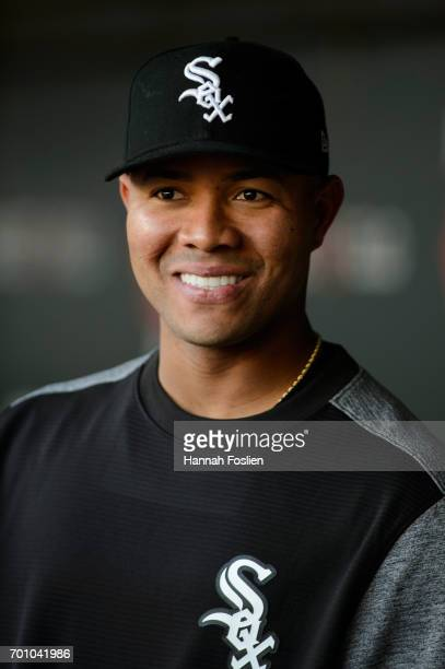 Jose Quintana of the Chicago White Sox looks on before the game against the Minnesota Twins on June 21 2017 at Target Field in Minneapolis Minnesota...