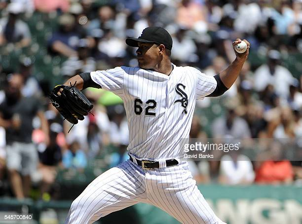 Jose Quintana of the Chicago White Sox pitches against the Atlanta Braves during the first inning in a interleague game on July 9 2016 at U S...