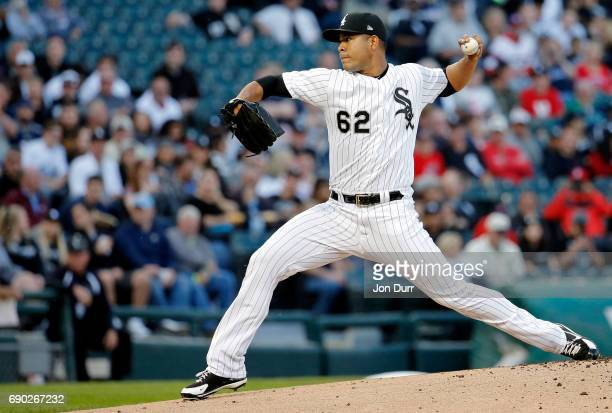 Jose Quintana of the Chicago White Sox pitches against the Boston Red Sox during the first inning at Guaranteed Rate Field on May 30 2017 in Chicago...