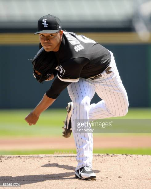 Jose Quintana of the Chicago White Sox pitches against the Kansas City Royals on April 26 2017 at Guaranteed Rate Field in Chicago Illinois The White...