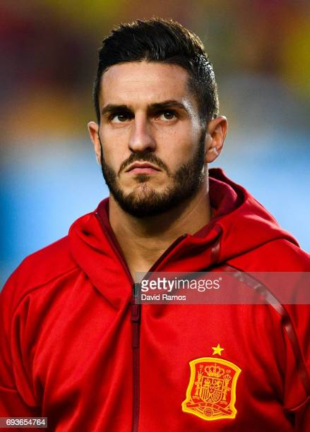Jose Resureccion 'Koke' of Spain looks on during a friendly match between Spain and Colombia at La Nueva Condomina stadium on June 7 2017 in Murcia...