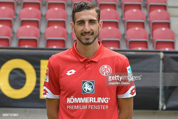 Jose Rodriguez poses during the official team presentation of 1 FSV Mainz 05 at Opel Arena on July 25 2016 in Mainz Germany