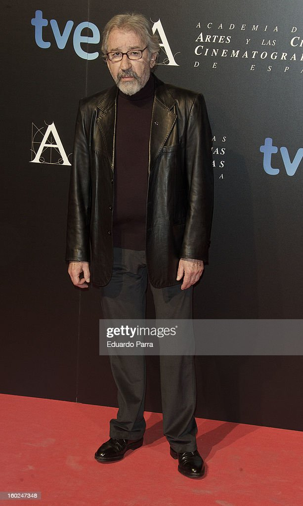 Jose Sacristan attends Goya awards final candidates party photocall at El Canal theatre on January 28, 2013 in Madrid, Spain.