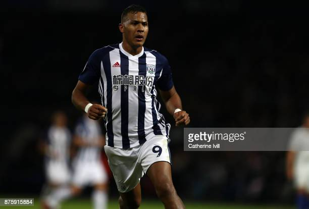 Jose Salomon Rondon of West Bromwich Albion during the Premier League match between West Bromwich Albion and Chelsea at The Hawthorns on November 18...