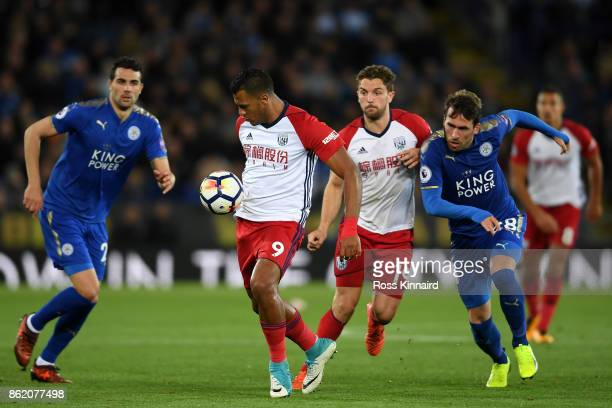 Jose Salomon Rondon of West Bromwich Albion in action during the Premier League match between Leicester City and West Bromwich Albion at The King...