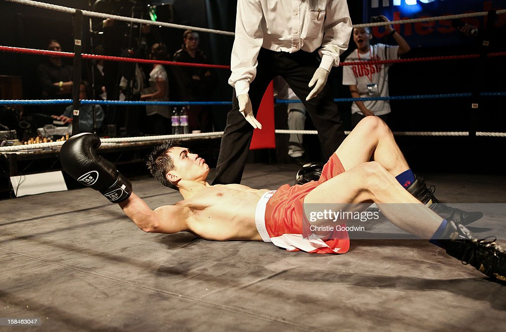 Jose Sanchez in the ring during the Chessboxing 2012 Season Finale at Scala on December 8, 2012 in London, England.