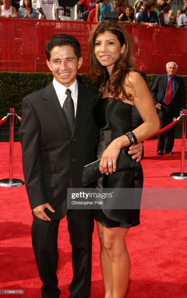 <a gi-track='captionPersonalityLinkClicked' href=/galleries/search?phrase=Jose+Santos&family=editorial&specificpeople=233439 ng-click='$event.stopPropagation()'>Jose Santos</a> and Wife Rita during 2003 ESPY Awards - Arrivals at Kodak Theatre in Hollywood, California, United States.