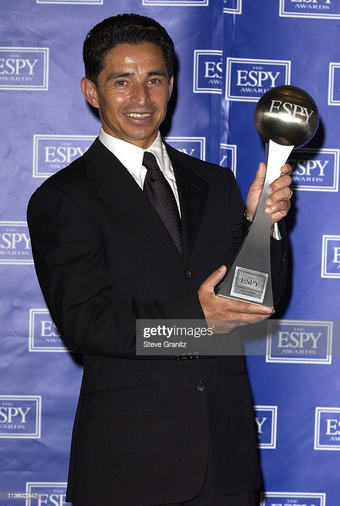 <a gi-track='captionPersonalityLinkClicked' href=/galleries/search?phrase=Jose+Santos&family=editorial&specificpeople=233439 ng-click='$event.stopPropagation()'>Jose Santos</a>, winner of Best Jockey during 2003 ESPY Awards - Press Room at Kodak Theatre in Hollywood, California, United States.