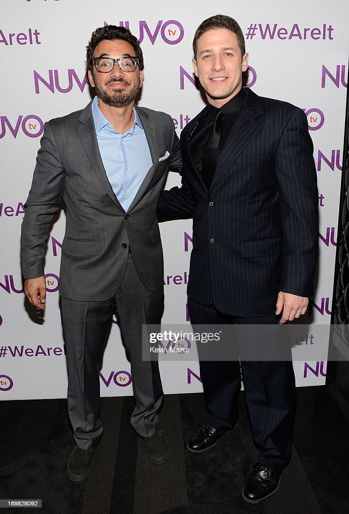 Jose Sarduy (R) attends the NUVOtv Upfront presentation at The Edison Ballroom on May 15, 2013 in New York City.