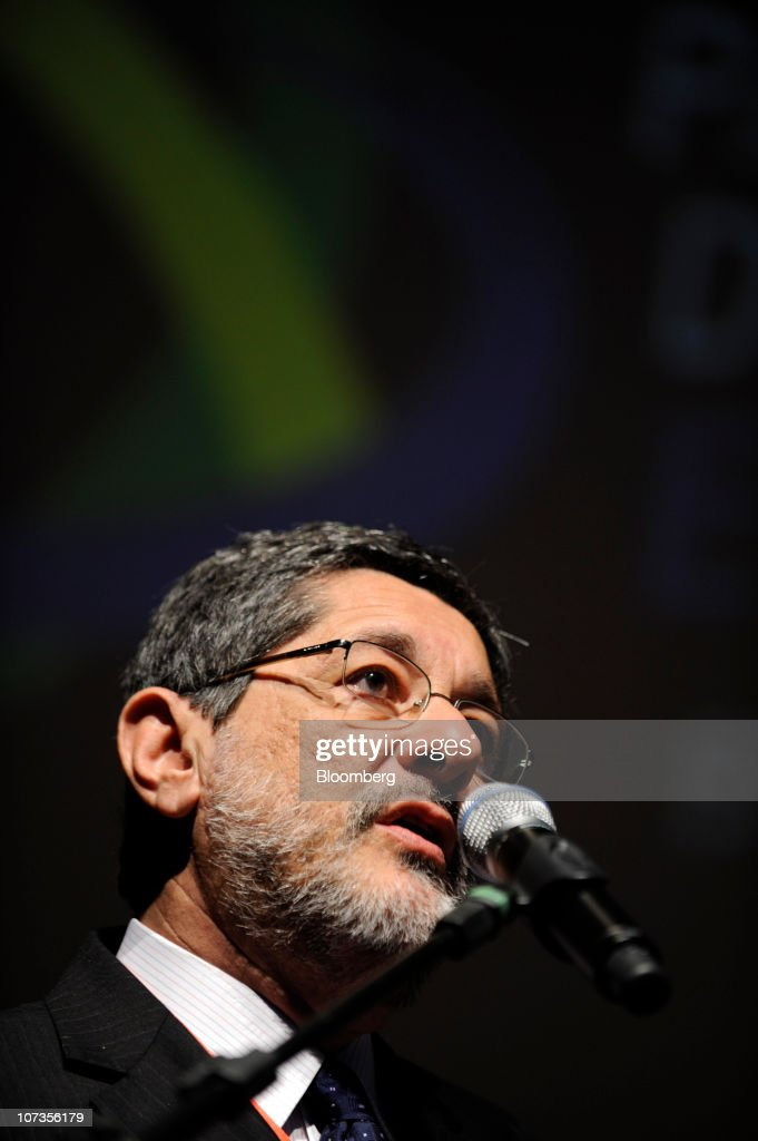 Jose Sergio Gabrielli chief executive officer of Petroleo Brasileiro SA speaks at the Committee of Young Entrepreneurs seminar in Sao Paulo Brazil on...