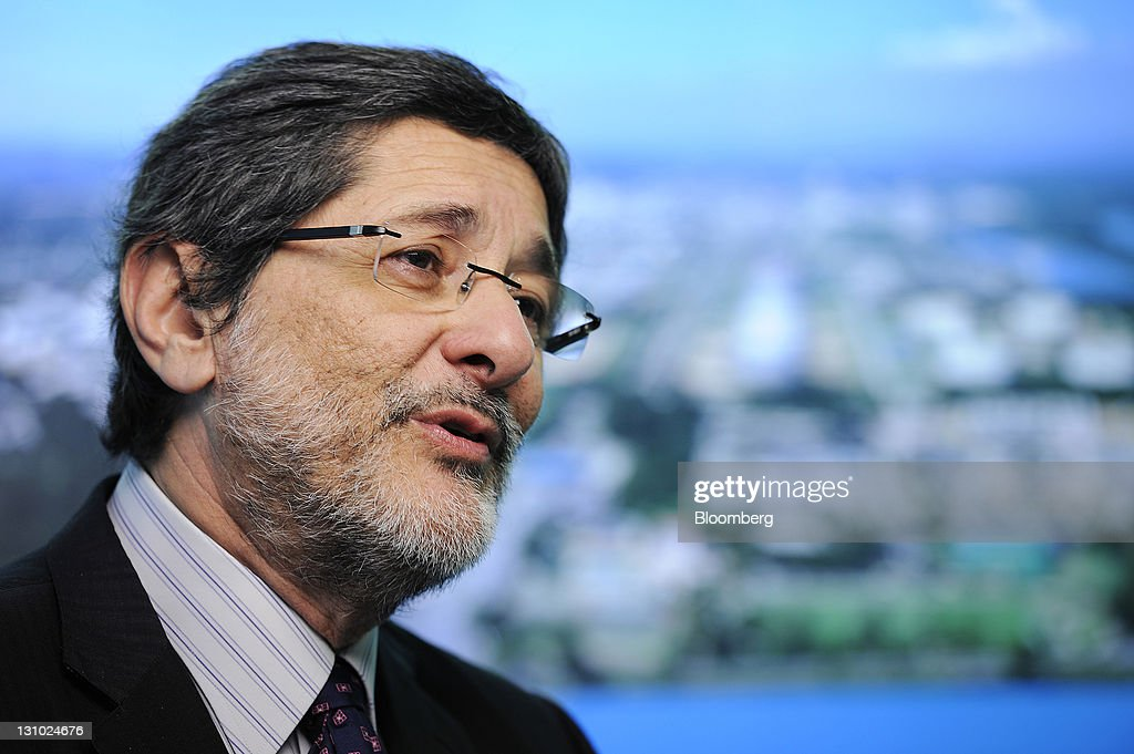 Jose Sergio Gabrielli chief executive officer of Petroleo Brasileiro SA speaks during an interview in Singapore on Tuesday Nov 1 2011 Petroleo...