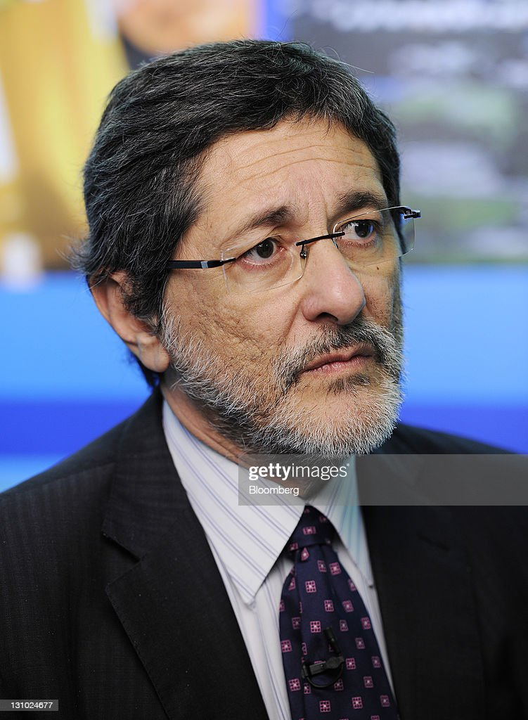Jose Sergio Gabrielli chief executive officer of Petroleo Brasileiro SA pauses during an interview in Singapore on Tuesday Nov 1 2011 Petroleo...