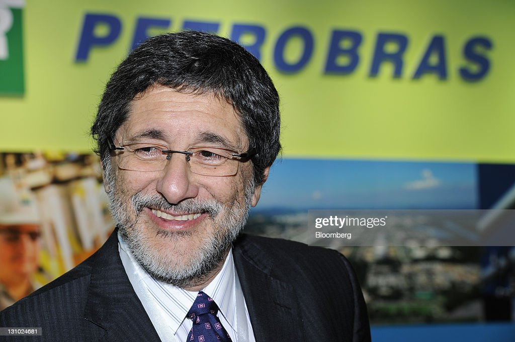 Jose Sergio Gabrielli chief executive officer of Petroleo Brasileiro SA reacts during an interview in Singapore on Tuesday Nov 1 2011 Petroleo...