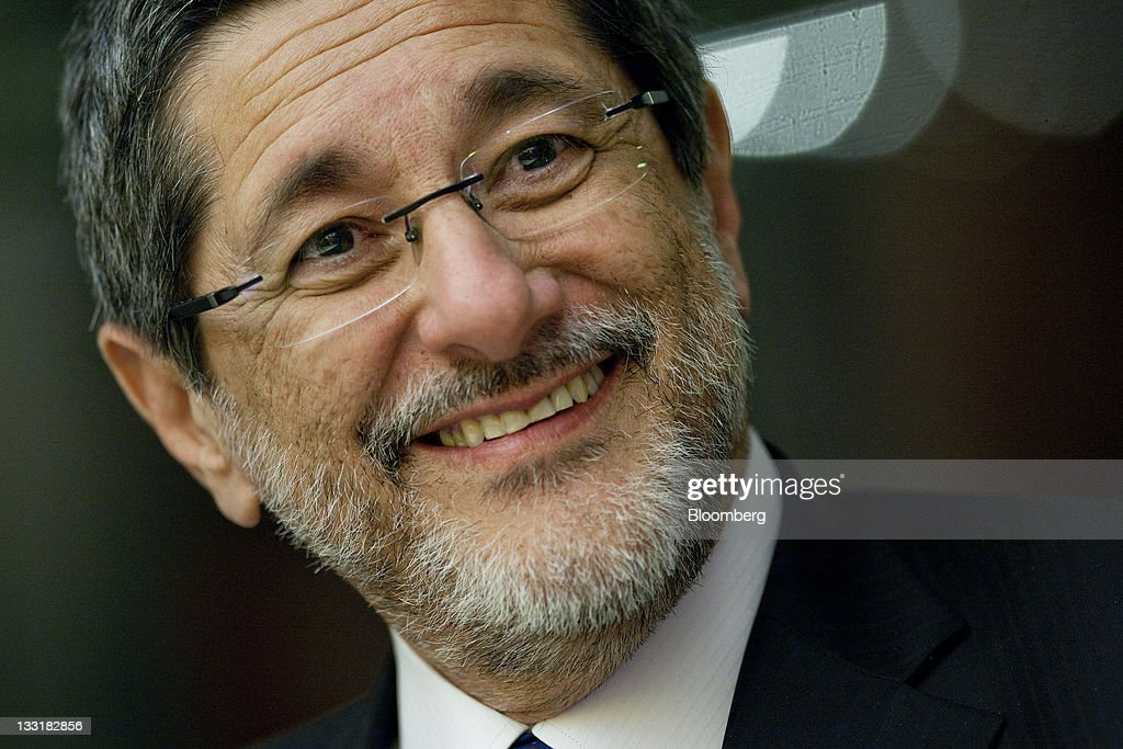 Jose Sergio Gabrielli chief executive officer of Petroleo Brasileiro SA smiles during an interview in New York US on Thursday Nov 17 2011 Petroleo...