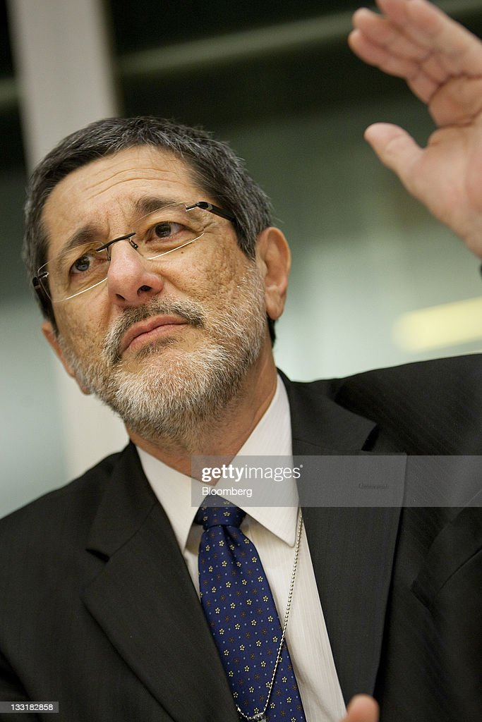 Jose Sergio Gabrielli chief executive officer of Petroleo Brasileiro SA speaks during an interview in New York US on Thursday Nov 17 2011 Petroleo...