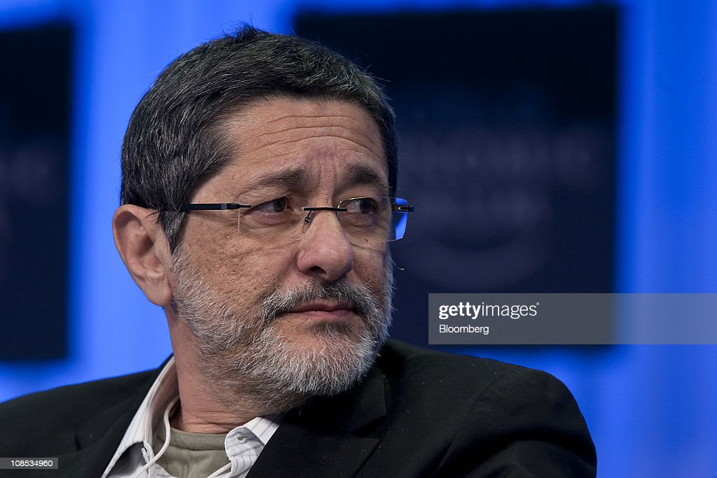 Jose Sergio Gabrielli chief executive officer of Petroleos Brasileiro SA listens during a session on the third day of the World Economic Forum Annual...