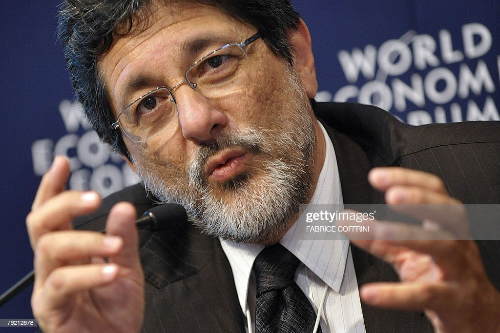 Jose Sergio Gabrielli de Azevedo President and CEO of Petroleo Brasileiro Petrobas attends a session at the World Economic Forum in Davos 25 January...