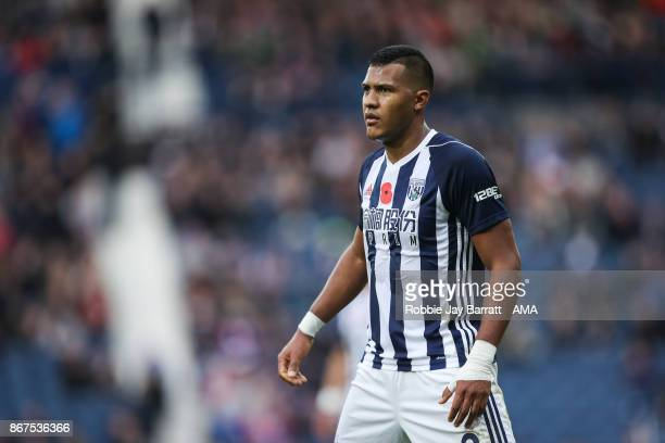 Jose Solomon Rondon of West Bromwich Albion during the Premier League match between West Bromwich Albion and Manchester City at The Hawthorns on...