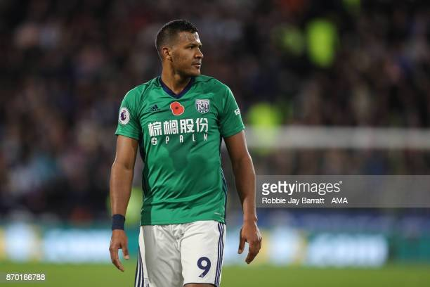 Jose Solomon Rondon of West Bromwich Albion during the Premier League match between Huddersfield Town and West Bromwich Albion at John Smith's...