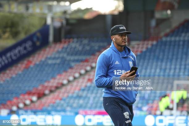 Jose Solomon Rondon of West Bromwich Albion on the pitch prior to the Premier League match between Huddersfield Town and West Bromwich Albion at John...