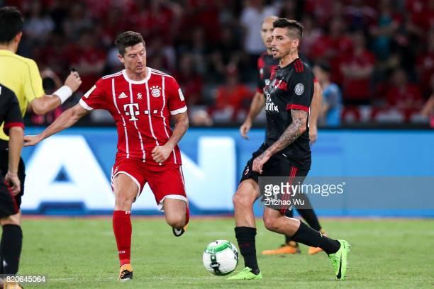 Jose Sosa of AC Milan controls the ball during the 2017 International Champions Cup China match between FC Bayern and AC Milan at Universiade Sports...