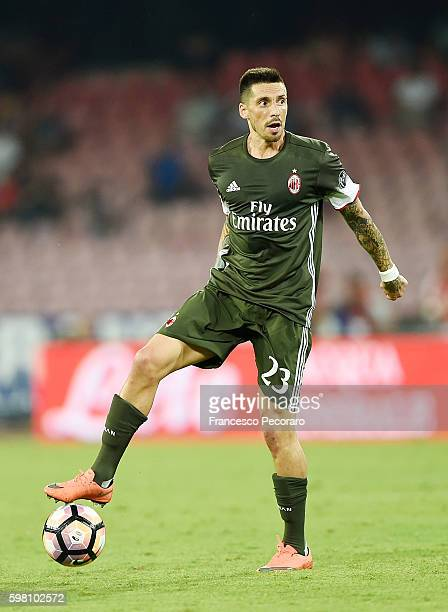 Jose Sosa of AC Milan in action before the Serie A match between SSC Napoli and AC Milan at Stadio San Paolo on August 27 2016 in Naples Italy