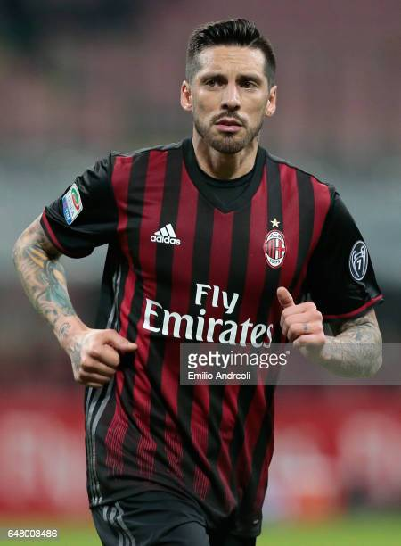 Jose Sosa of AC Milan looks on during the Serie A match between AC Milan and AC ChievoVerona at Stadio Giuseppe Meazza on March 4 2017 in Milan Italy