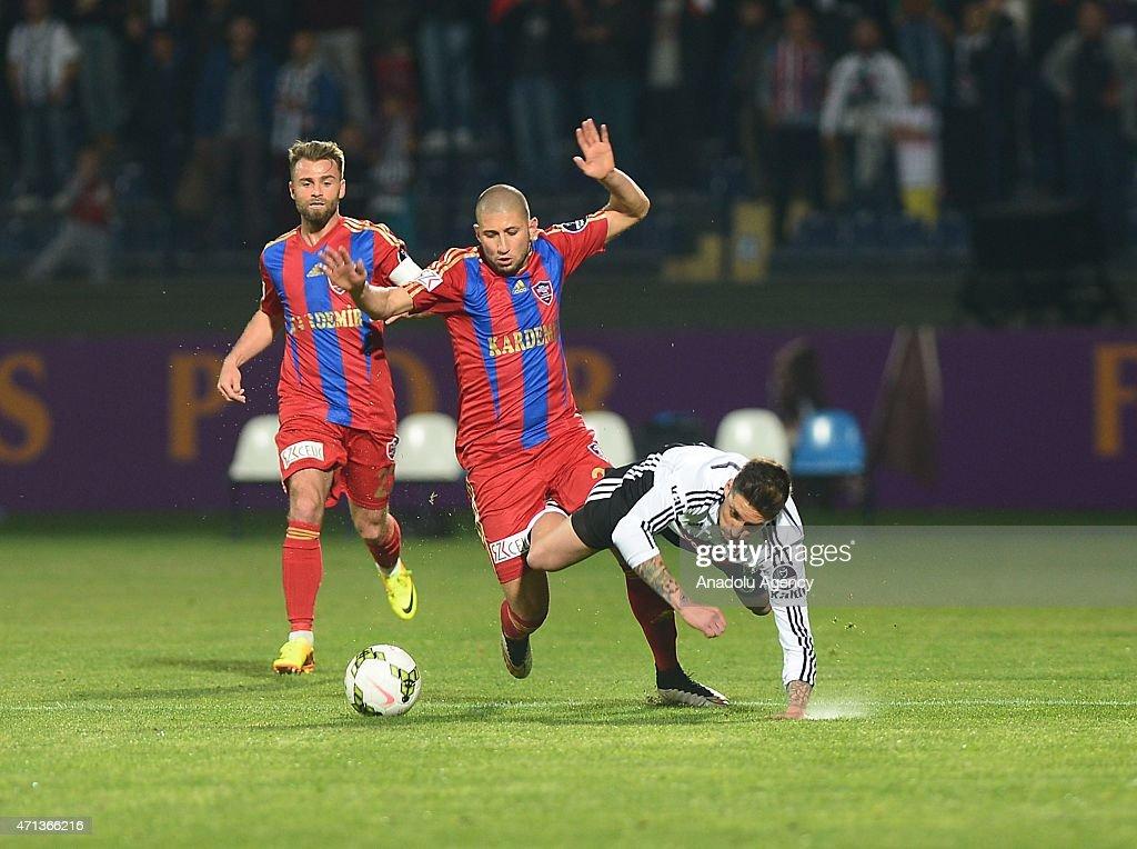 Jose Sosa of Besiktas during the Turkish Spor Toto Super League soccer match between Besiktas and Kardemir Karabukspor at Ankara Osmanli Stadium in...