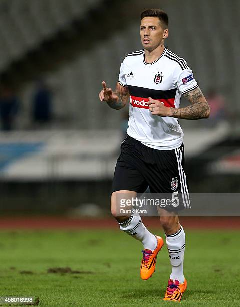 Jose Sosa of Besiktas in action during the UEFA Europa League Group C match between Besiktas JK and Asteras Tripolis FC at the Ataturk Olympic...