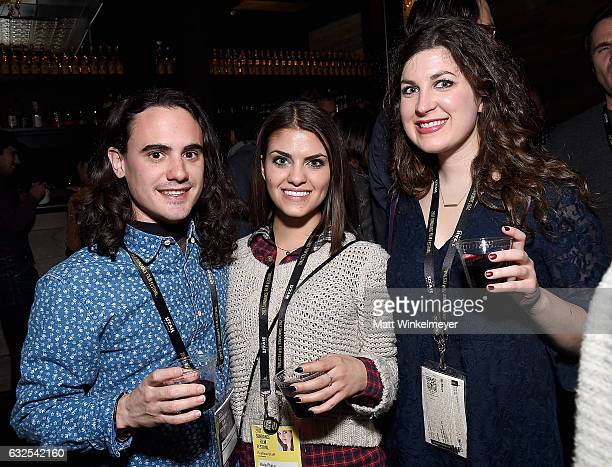 Jose Tamayo Kaia Placa and Mary Sollosi attend the Film Independent International Documentary Association Oovra Music And RO*CO FILMS Sundance Party...