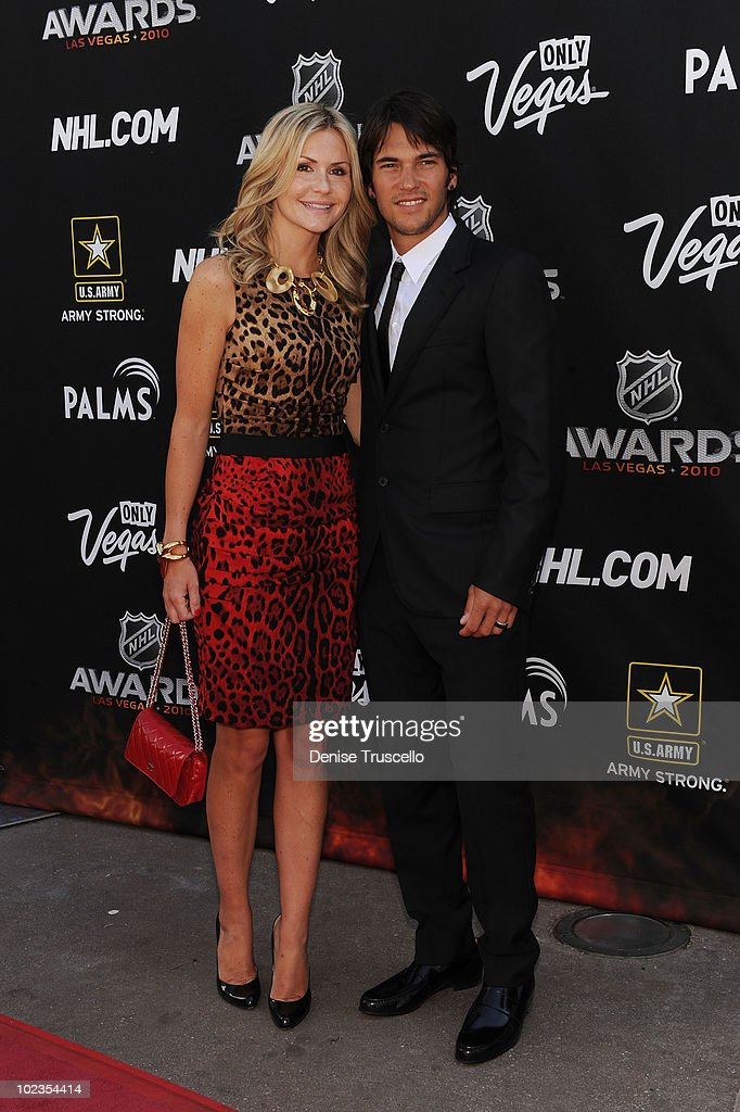 Jose Theodore (R and guest )arrive at the 2010 NHL Awards The Palms Casino Resort on June 23, 2010 in Las Vegas, Nevada.