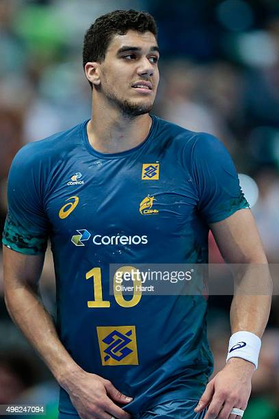Jose Toledo of Brazil in action during the Handball Supercup between Brazil and Serbia on November 8 2015 in Kiel Germany