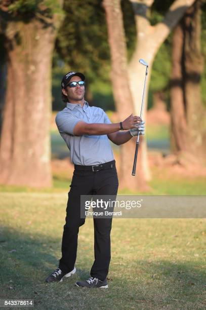 Jose Toledo of Guatemala hits a shot on the 18th hole during practice for the PGA TOUR Latinoamerica Abierto del ParaguayCopa NEC at Yacht and Golf...
