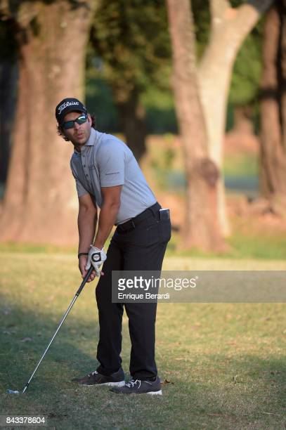 Jose Toledo of Guatemala prepares to hit a shot on the 18th hole during practice for the PGA TOUR Latinoamerica Abierto del ParaguayCopa NEC at Yacht...