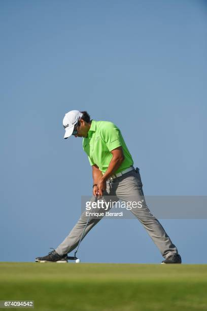 Jose Toledo of Guatemala putts on the 14th hole during the third round of the PGA TOUR Latinoamérica Honduras Open presented by Indura Golf Resort at...