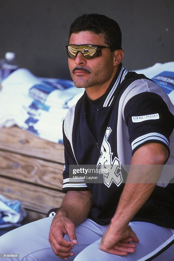 Jose Valentin Of The Chicago White Sox Before A Baseball Game Against The  Baltimore Orioles On