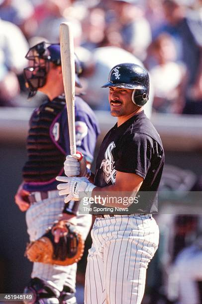 Jose Valentin of the Chicago White Sox during the Spring Training game against the Arizona Diamondbacks on March 5 2000