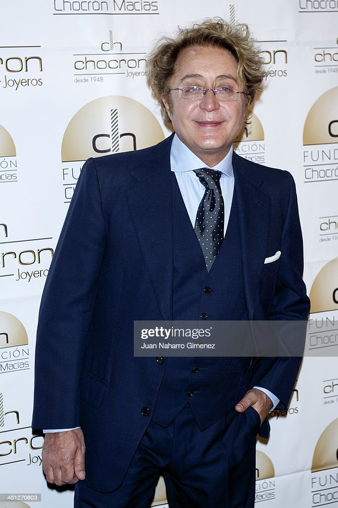 Jose Victor Rodriguez attends Chocron Jewelry Charity Catalogue presentation at Teatriz Restaurant on November 21, 2013 in Madrid, Spain.