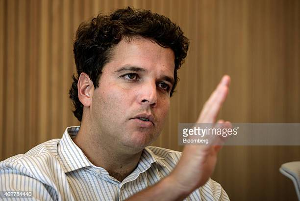 Jose Zitelmann the partner responsible for equity management at Grupo BTG Pactual speaks during an interview in his office in Sao Paulo Brazil on...