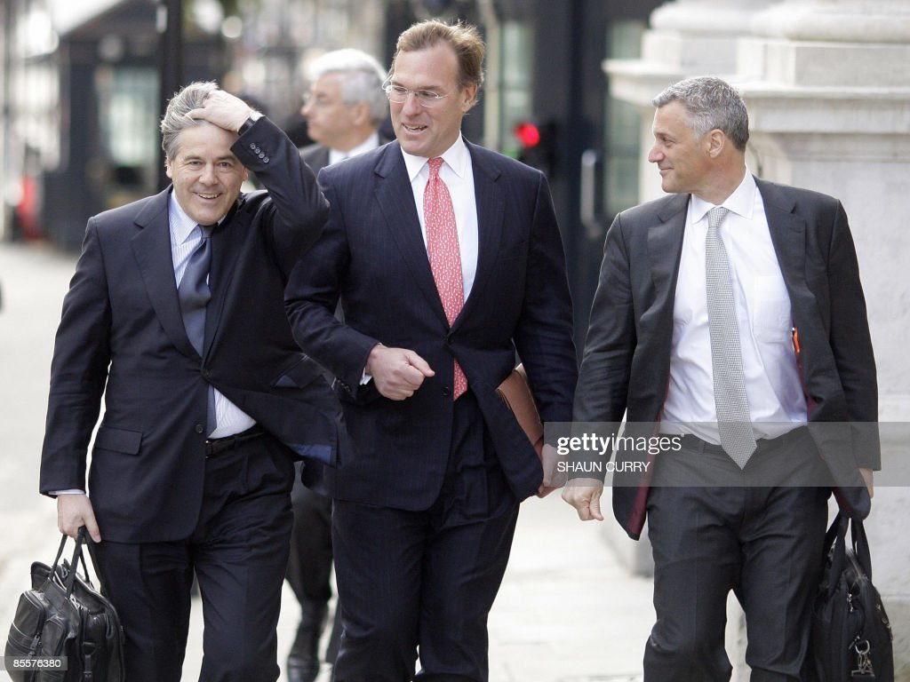 Josef Ackermann Chief Executive of Germany's Deutsche Bank Richard Gnodde CoChief Executive of US bank Goldman Sachs and Bill Winters CoHead of...