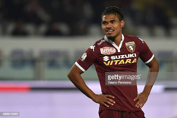 Josef Alexander Martinez of Torino FC looks on during the TIM Cup match between Torino FC and AC Cesena at Stadio Olimpico di Torino on December 1...