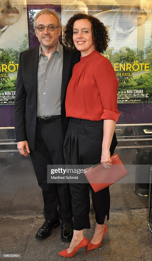 Josef Hader (L) and <a gi-track='captionPersonalityLinkClicked' href=/galleries/search?phrase=Maria+Schrader&family=editorial&specificpeople=636749 ng-click='$event.stopPropagation()'>Maria Schrader</a> pose during the 'Vor der Morgenroete' Vienna premiere at Gartenbau Kino Vienna on May 31, 2016 in Vienna, Austria.