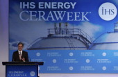 Josef 'Joe' Kaeser chief executive officer of Siemens AG speaks during the 2014 IHS CERAWeek conference in Houston Texas US on Wednesday March 5 2014...
